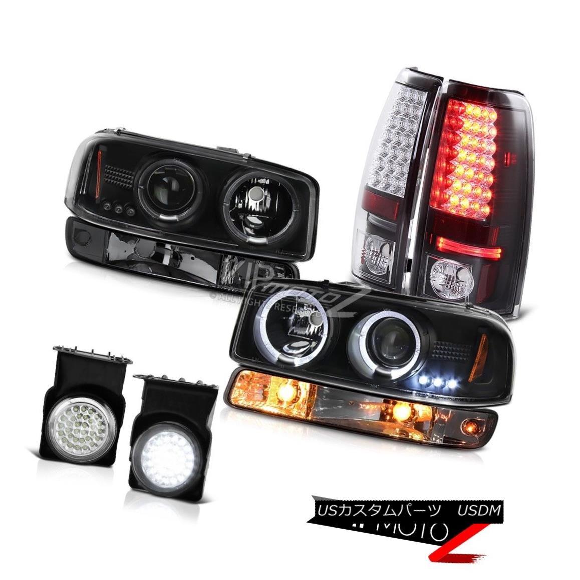 大特価 車用品 (訳ありセール 格安) バイク用品 >> パーツ ライト ランプ ヘッドライト 2003-2006 Sierra GMT800 headlights bumper foglamps 2003-2006シエラGMT800クロームフォグランプテールランプバンパーライトヘッドライトLED Chrome light LED lamps tail