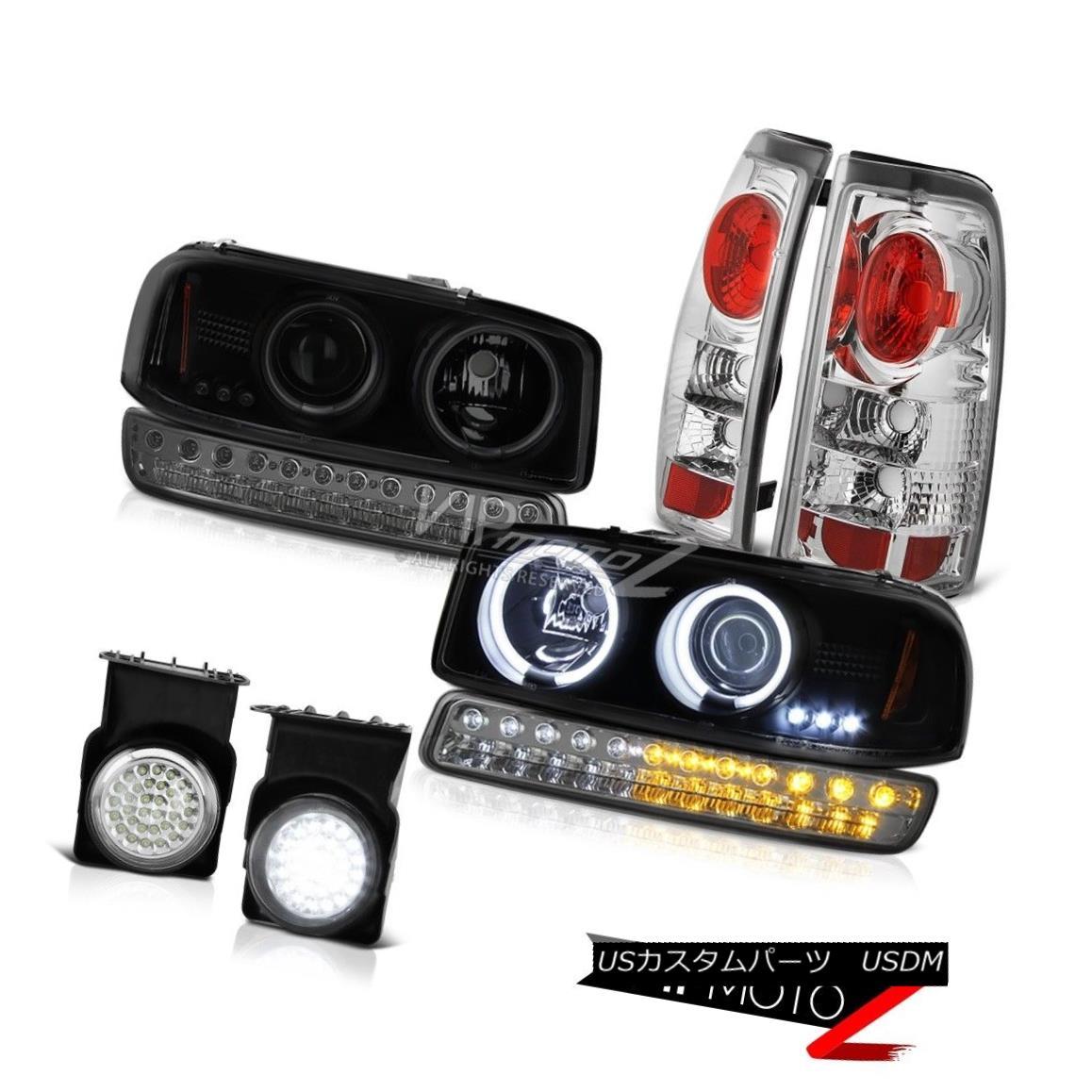 車用品 バイク用品 >> パーツ ライト 休み ランプ ヘッドライト 03-06 Sierra 2500 Headlamps Smokey Taillights 最安値挑戦 Rim Lights 2500フォグライトテールライトスモーキー駐車ランプヘッドランプHalo Lamp Parking Halo Fog