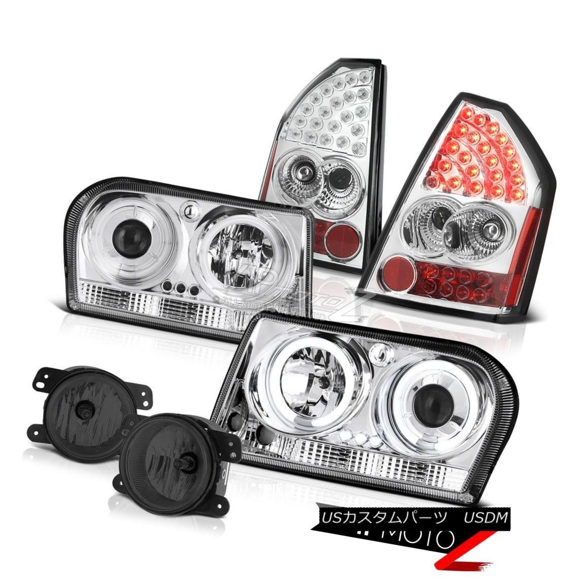 車用品 バイク用品 >> パーツ ライト ランプ ヘッドライト 05-07 Chrysler 毎日がバーゲンセール 300 Bumper Fluorescence Halo Fog 2.7L蛍光ハローヘッドライトクロームタイルランプバンパーフォグ 新作入荷!! Taillamps 05-07クライスラー300 Chrome Headlights 2.7L