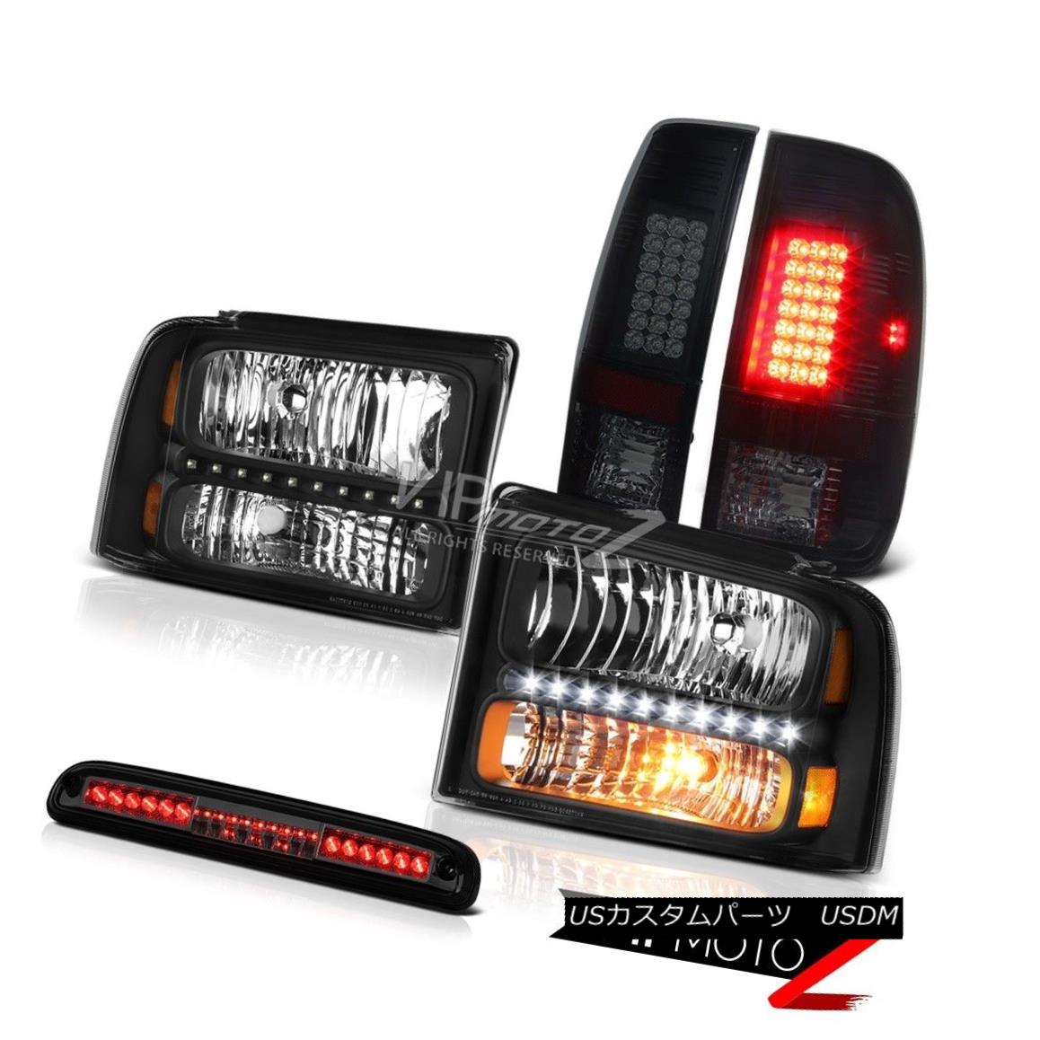 車用品 バイク用品 2020 新作 >> パーツ ライト ランプ ヘッドライト 05 06 好評受付中 07 F350 LED Roof Brake Lights Highline Lamps Tail Smoke F350ハイライトヘッドランプスモークLEDテールライトランプルーフブレーキティント Headlamps Tint