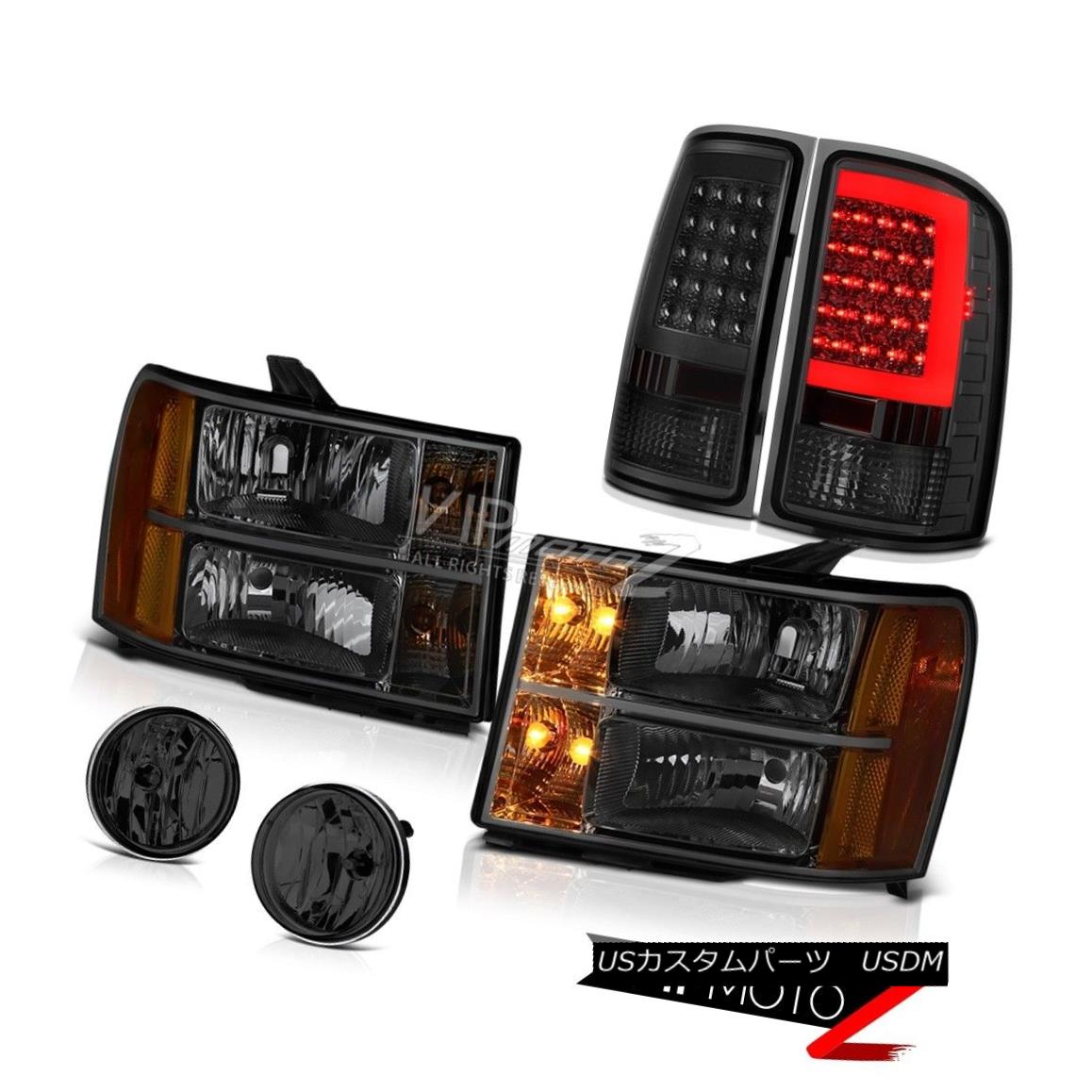 ヘッドライト 07-13 Gmc Sierra 1500 XFE Tail Lamps Fog Lights Headlamps Neon Tube