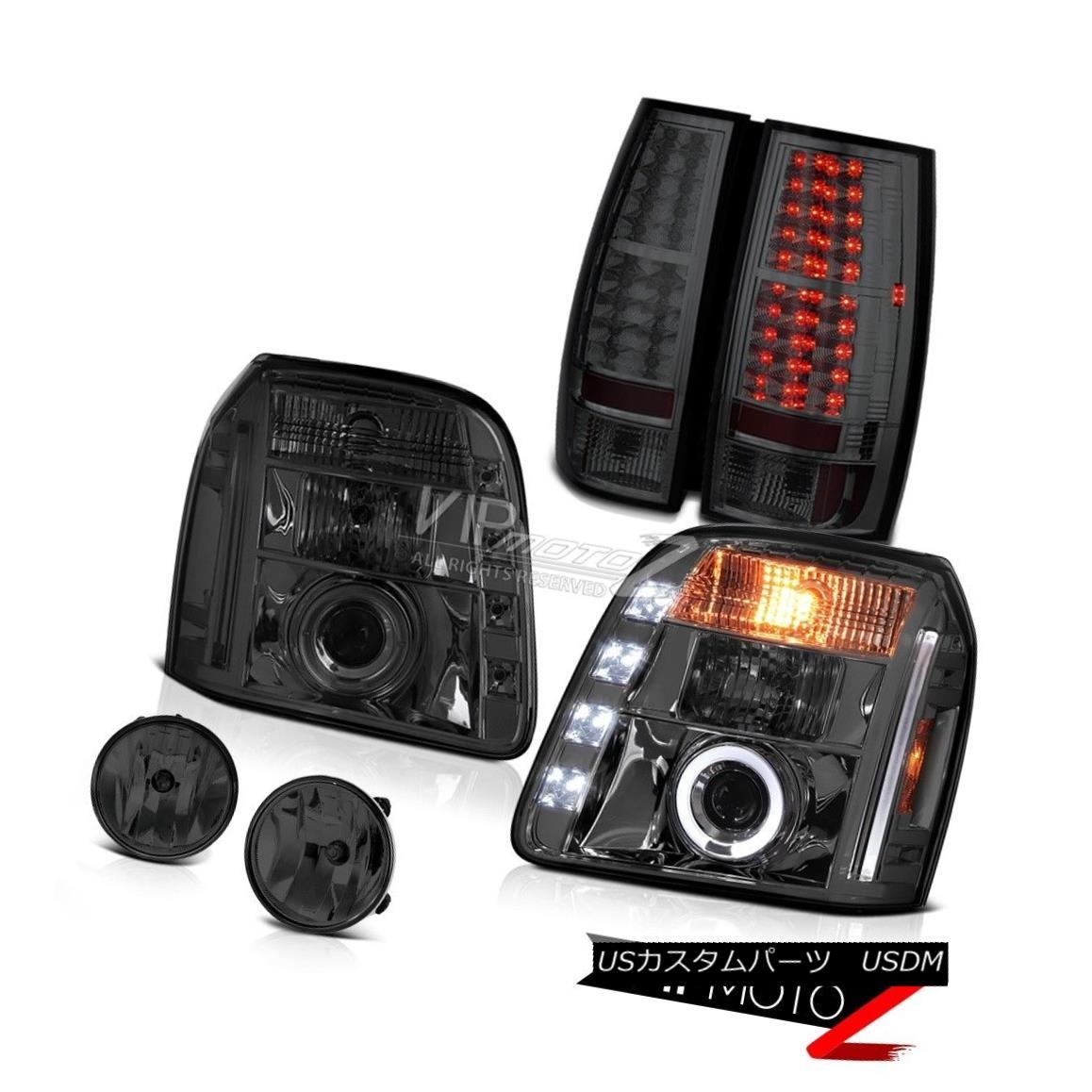 ヘッドライト 07-14 GMC Yukon XL SLT Phantom Smoke Foglights Taillamps Headlamps SMD Dual Halo 07-14 GMC Yukon XL SLTファントムスモークフォグライトタイルランプヘッドランプSMDデュアルヘイロー