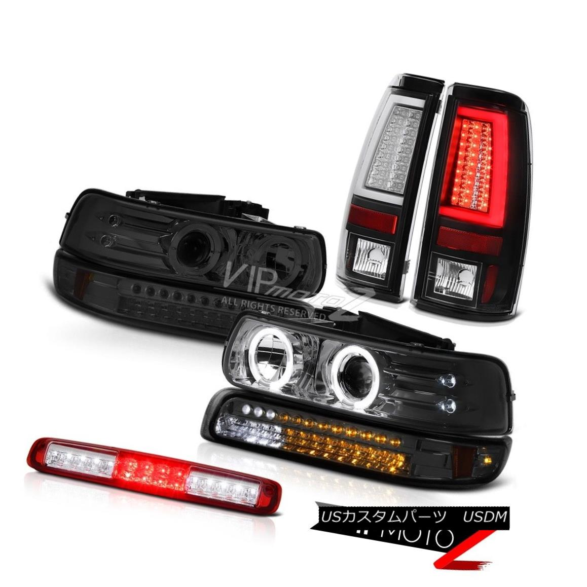 ヘッドライト 99-02 Silverado LTZ Tail Lights Bumper Lamp Headlights Roof Brake LED Halo Ring 99-02 Silverado LTZテールライトバンパーランプヘッドライトルーフブレーキLED Haloリング