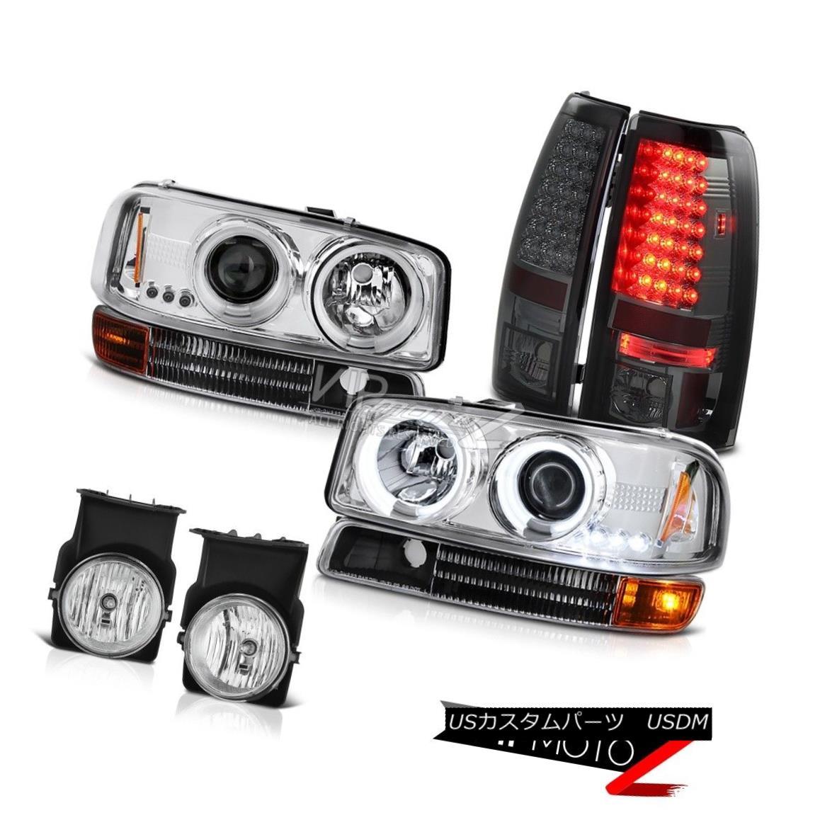 ヘッドライト CCFL Halo Headlamp Signal Bumper Smoked LED SMD Tail Lights Fog 2003 Sierra Z71 CCFL Haloヘッドランプ信号バンパースモークLED SMDテールライトフォグ2003 Sierra Z71