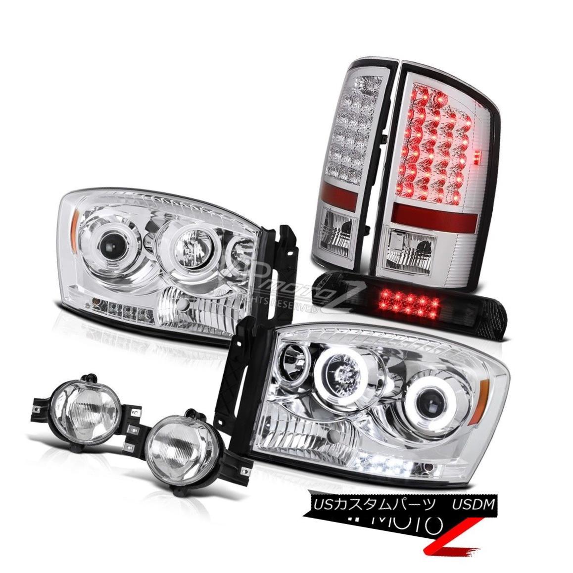 ヘッドライト Devil's CCFL Rim Headlights LED Tail Lamps Euro Fog 3RD 2007-2008 Ram Magnum V8 悪魔のCCFLリムヘッドライトLEDテールランプユーロフォグ3RD 2007-2008ラムマグナムV8