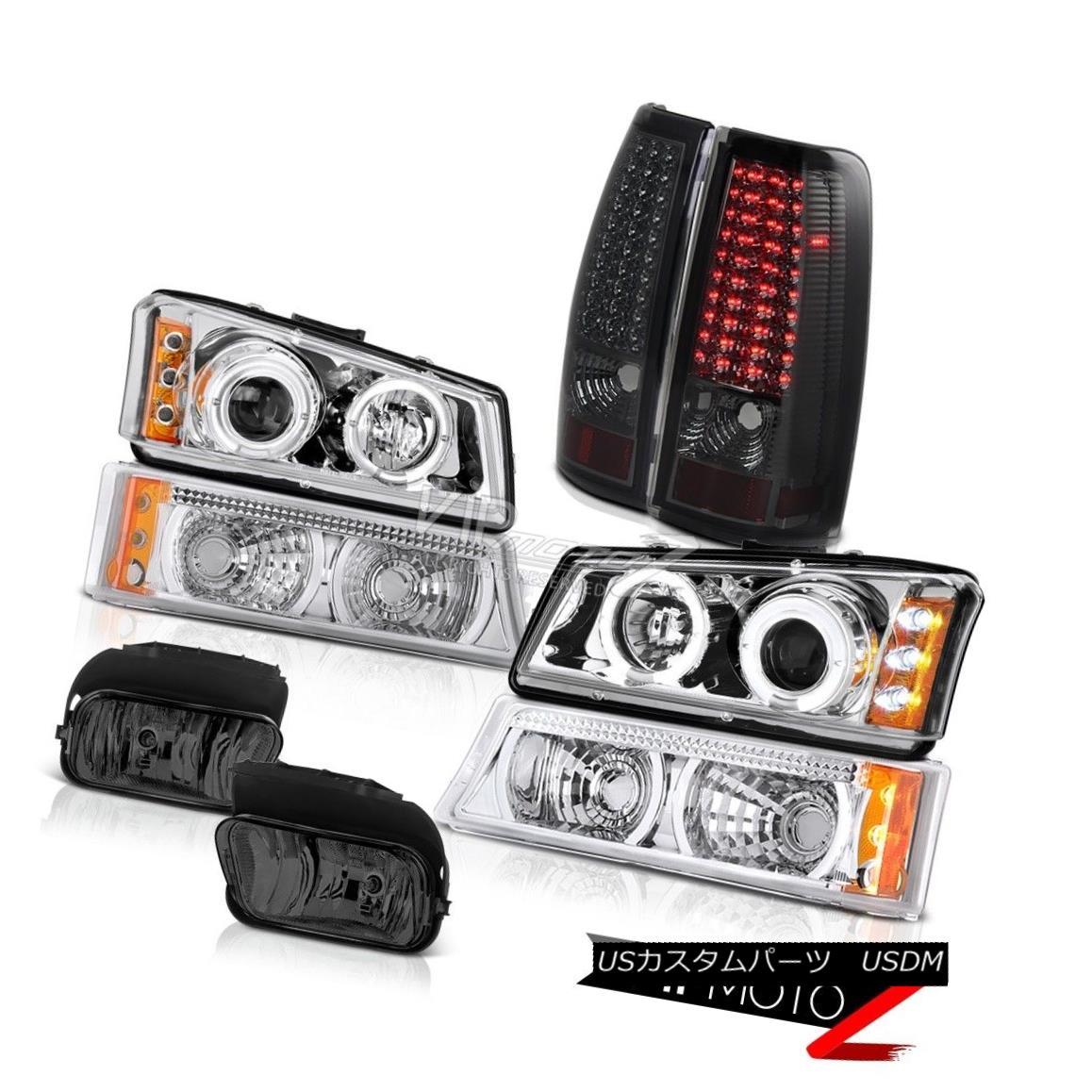 ヘッドライト 2003-2006 Silverado LS Projector Headlamp Smoke Rear Brake Tail Lights Foglights 2003-2006 Silverado LSプロジェクターヘッドランプスモークリアブレーキテールライトフォグライト