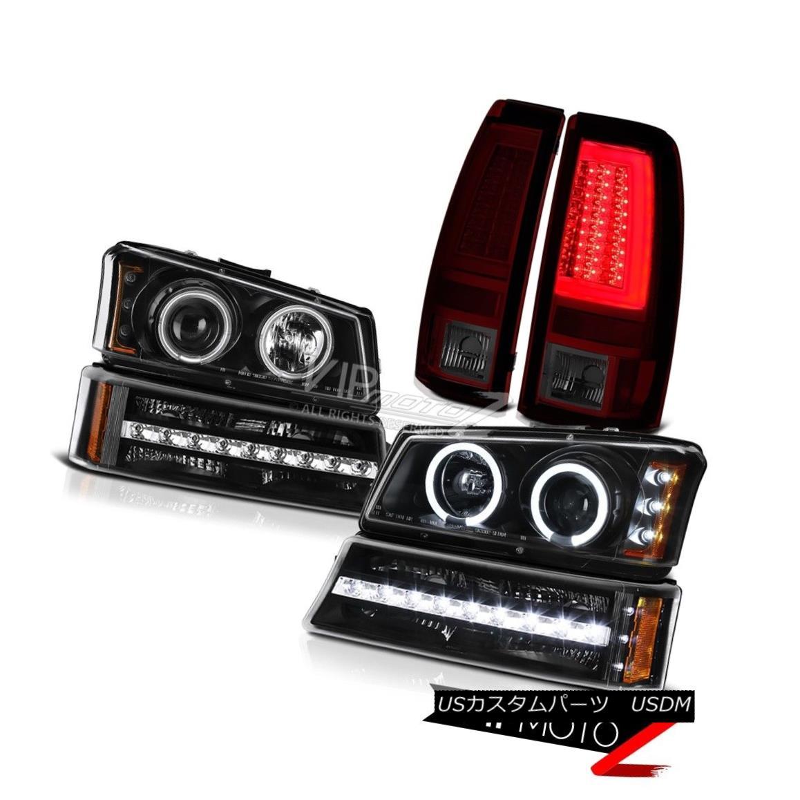 ヘッドライト 03-06 Chevy Silverado Taillights Signal Lamp Headlamps Light Bar LED CCFL Rim 03-06 Chevy Silveradoテールライト信号ランプヘッドランプライトバーLED CCFLリム