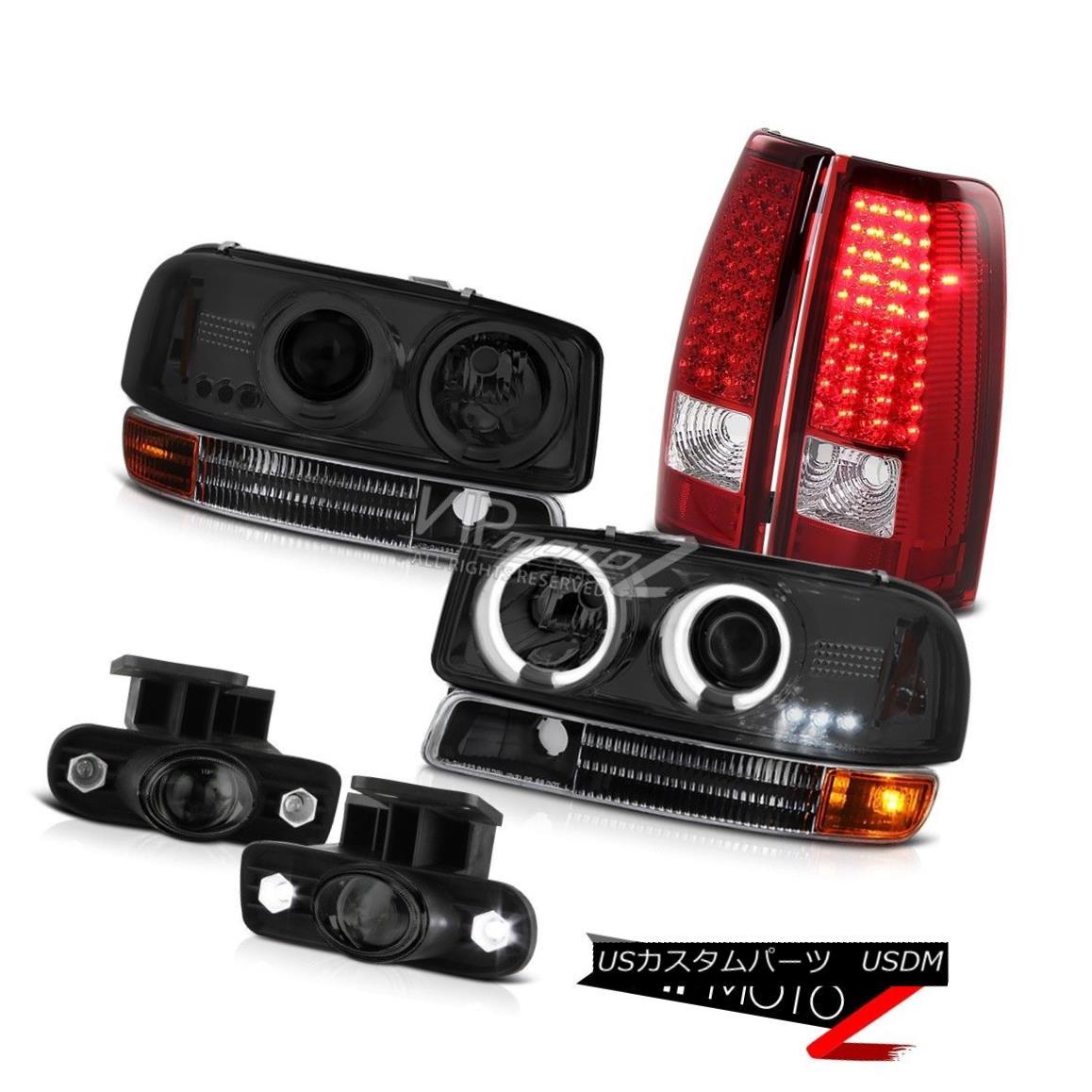 ヘッドライト 99-03 Sierra 5.3L V8 CCFL Angel Eye Headlight LED Brake Tail Light Projector Fog 99-03 Sierra 5.3L V8 CCFLエンジェルアイヘッドライトLEDブレーキテールライトプロジェクターフォグ