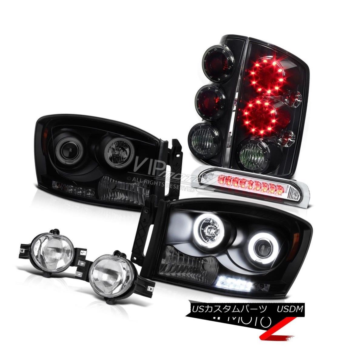 ヘッドライト 2006 Dodge Ram [BRIGHTEST] CCFL Halo Rim Headlights Foglamp Top Mount Brake Lamp 2006 Dodge Ram [BRIGHTEST] CCFL Halo Rimヘッドライトフォグライトトップマウントブレーキランプ