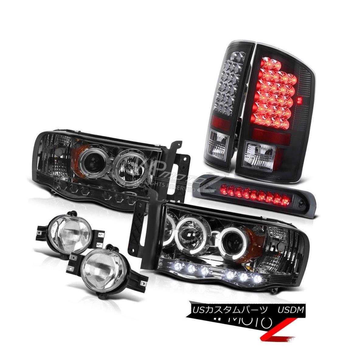 ヘッドライト Dodge Ram 02-05 SmOke HaLo Projector Headlight+3rd Brake+Tail Lamp+Fog Light Dodge Ram 02-05 SmOke HaLoプロジェクターヘッドライト+ 3rdブレーキ+テールランプ+フォグライト