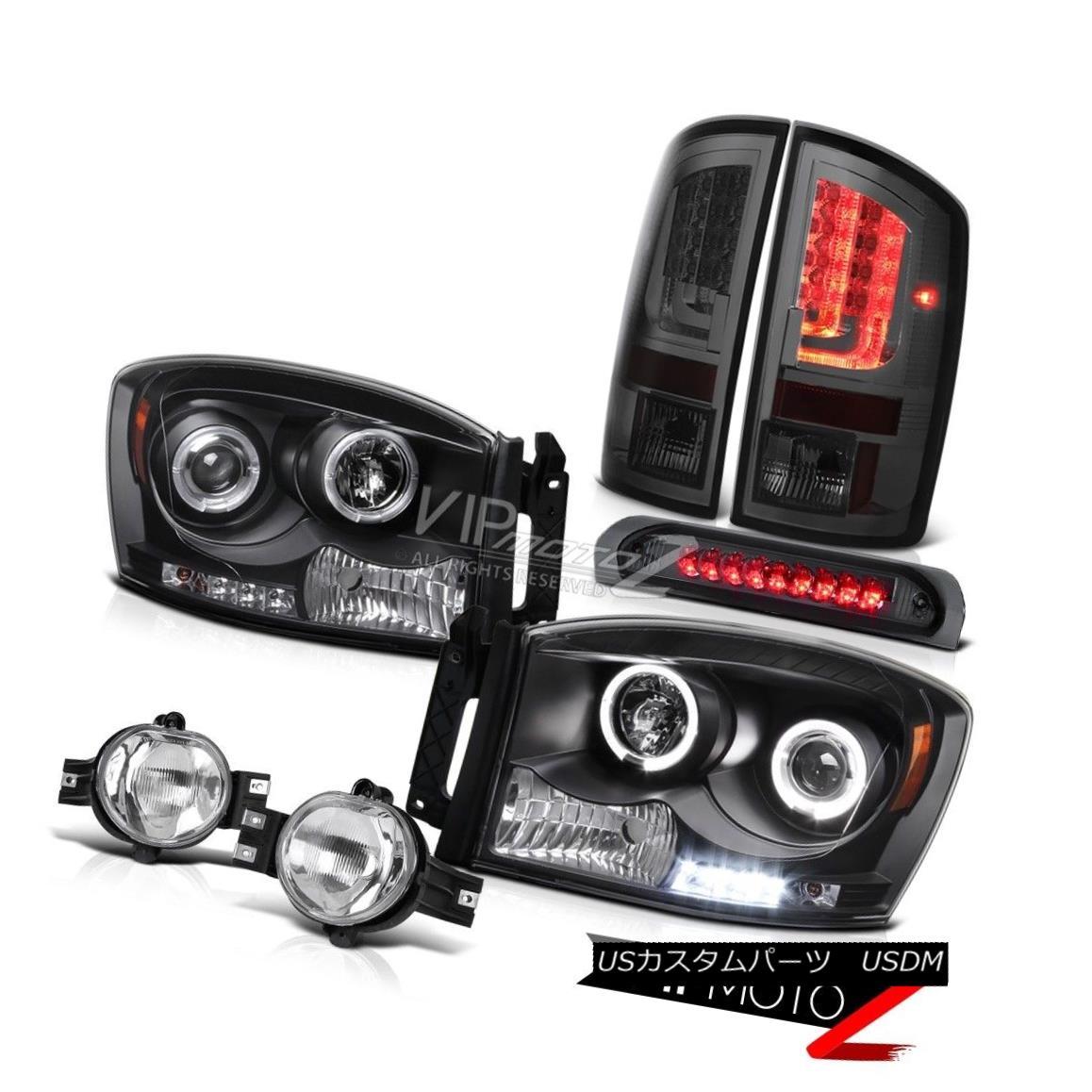 ヘッドライト 07-08 Dodge Ram 1500 5.7L Tail Lamps Headlamps Fog Roof Brake Lamp Tron Tube LED 07-08ダッジラム1500 5.7LテールランプヘッドランプフォグルーフブレーキランプトロンチューブLED