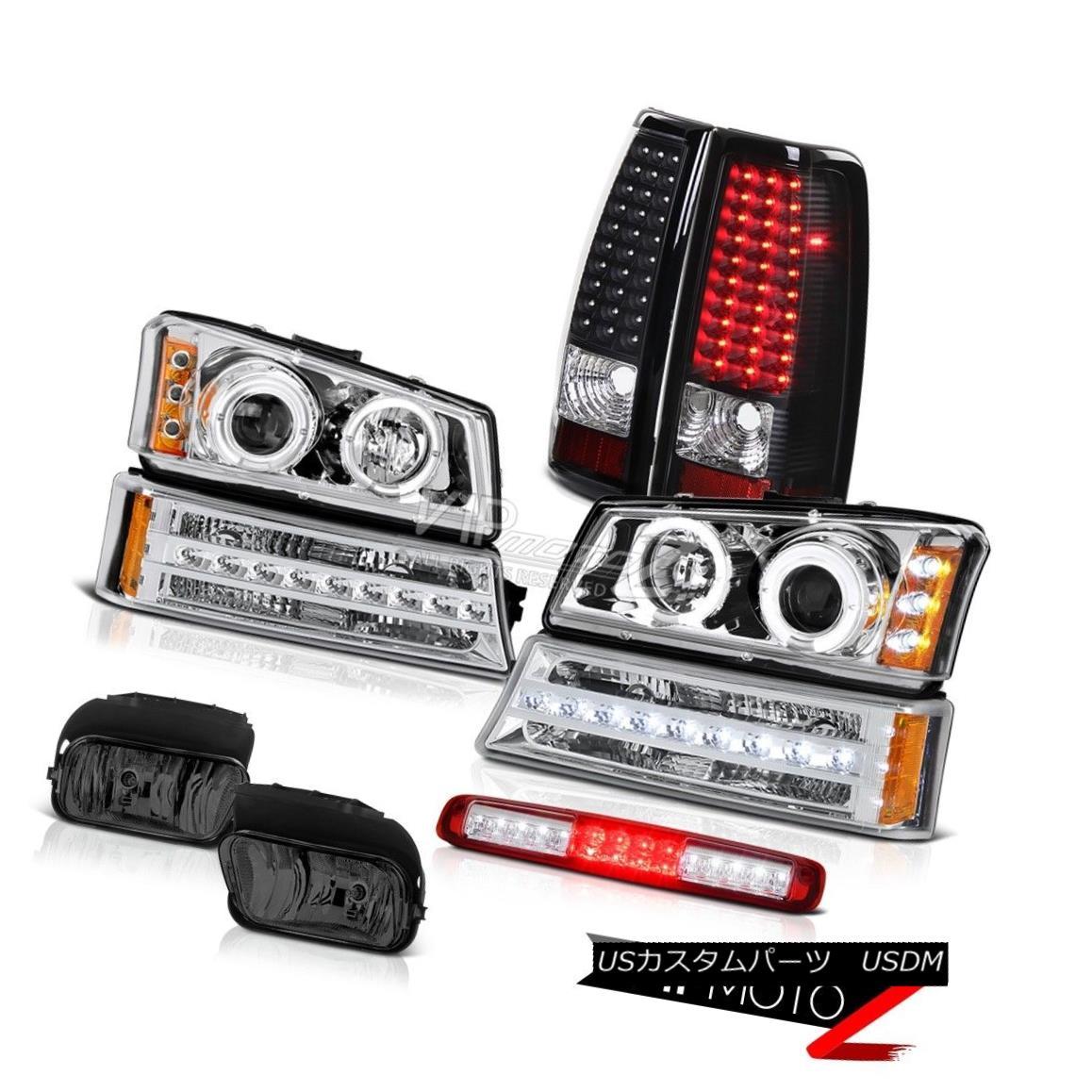 ヘッドライト 2003-2006 Silverado Foglamps 3RD Brake Lamp Parking Headlamps Black Tail Lights 2003-2006 Silverado Foglamps 3RDブレーキランプパーキングヘッドランプブラックテールライト