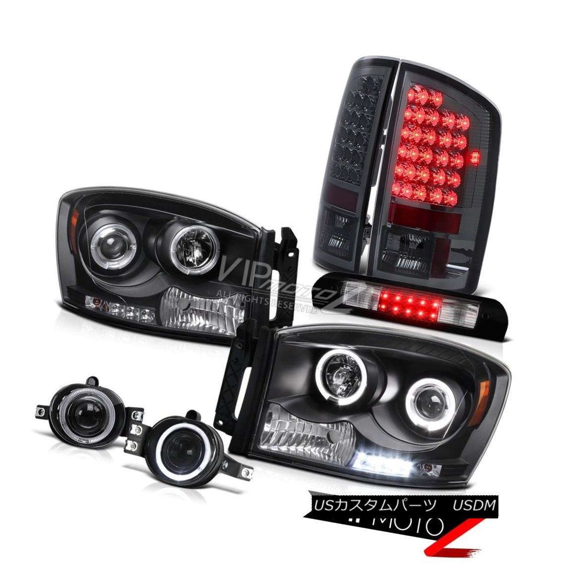 ヘッドライト 07 08 Ram PowerTech L.E.D DRL Halo Headlights Smoke Brake Lamps Chrome Fog High 07 08 Ram PowerTech L.E.D DRLハローヘッドライトスモークブレーキランプクロムフォグハイ