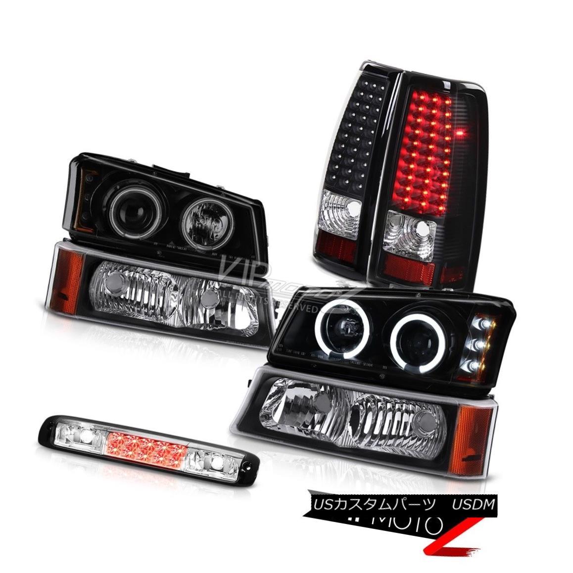 ヘッドライト 03-06 Silverado Parking Light Roof Brake Sinister Black Headlamps Tail Lights 03-06シルバラード駐車場ライトルーフブレーキシニスターブラックヘッドランプテールライト