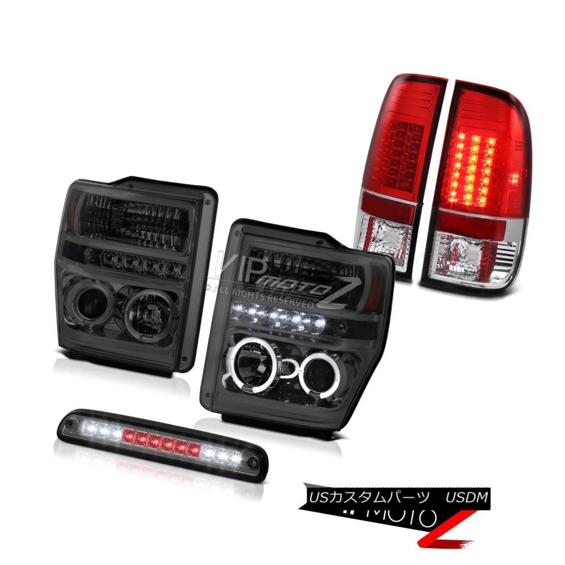 ヘッドライト Headlamps Angel Eye Roof Brake Cargo LED Tail Lights 2008 2009 2010 F350 XLT ヘッドランプエンジェルアイルーフブレーキカーゴLEDテールライト2008 2009 2010 F350 XLT