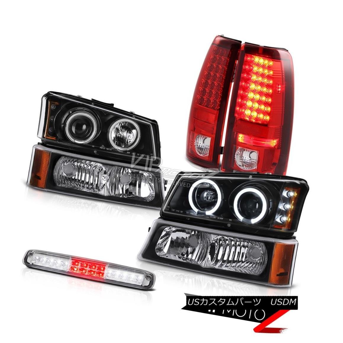 ヘッドライト 03-06 Silverado Signal Lamp High Stop Headlights Red Clear Parking Brake Lights 03-06 Silverado信号ランプハイストップヘッドライトレッドクリアパーキングブレーキライト