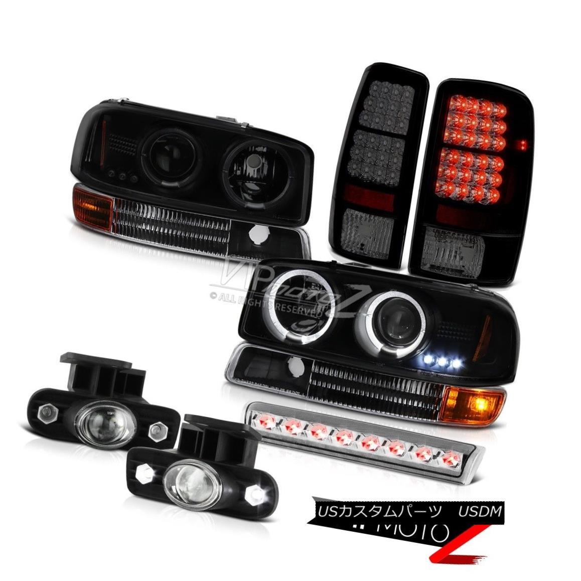ヘッドライト 00-06 GMC Yukon Halo Headlight Bumper Sinister LED Tail Light Fog Lamp 3rd Brake 00-06 GMCユーコンヘイローヘッドライトバンパーシニスターLEDテールライトフォグランプ3rdブレーキ