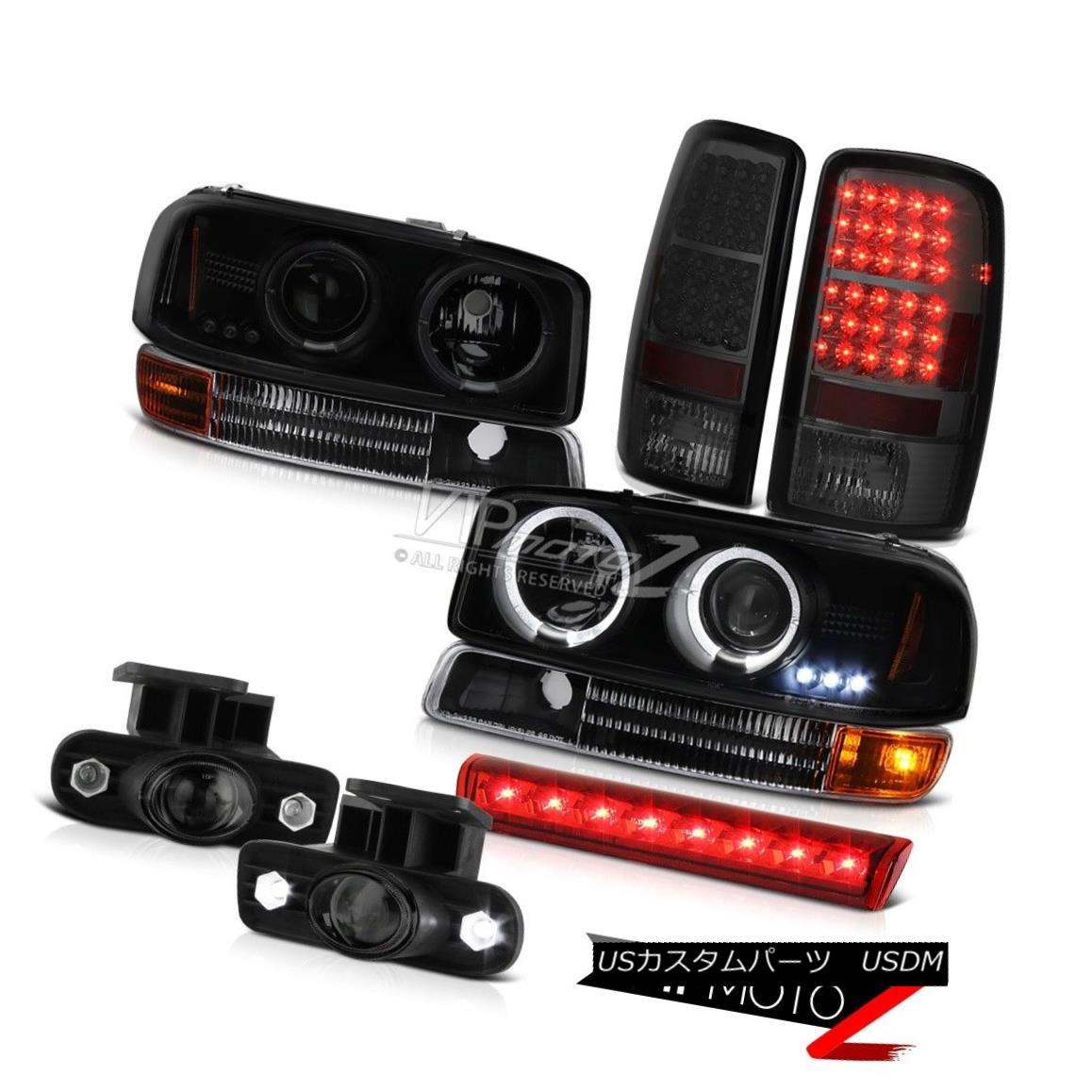 ヘッドライト 00-06 Yukon V8 SINSTER BLACK Headlights LED Brake Lights Projector FogLight Halo 00-06 Yukon V8 SINISTER BLACKヘッドライトLEDブレーキライトプロジェクターフォグライトHalo
