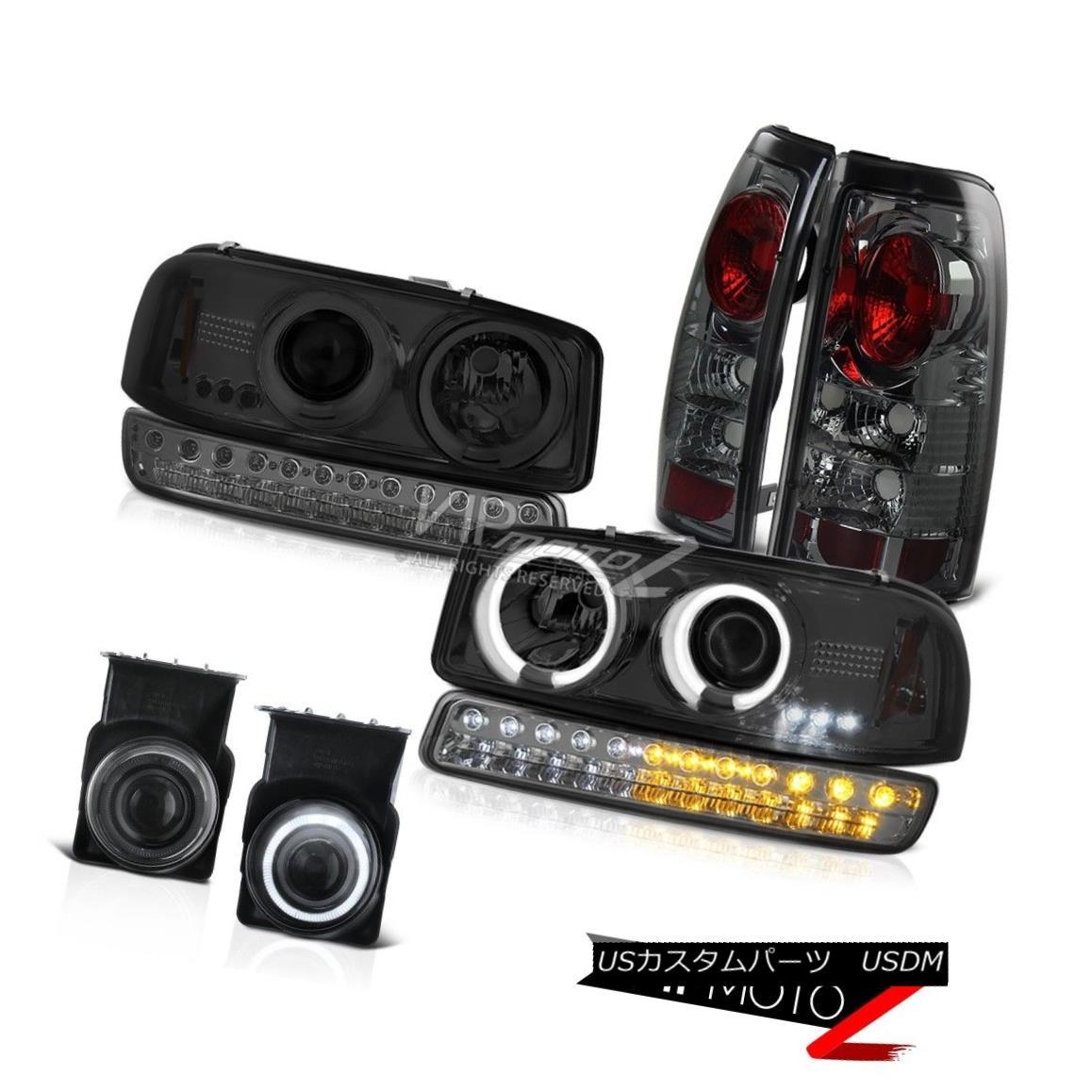 ヘッドライト 03-06 Sierra SL Smokey Foglights Taillamps Turn Signal CCFL Projector Headlamps 03-06シエラSLスモーキーフォグライトタイルランプCCFLプロジェクターヘッドランプ