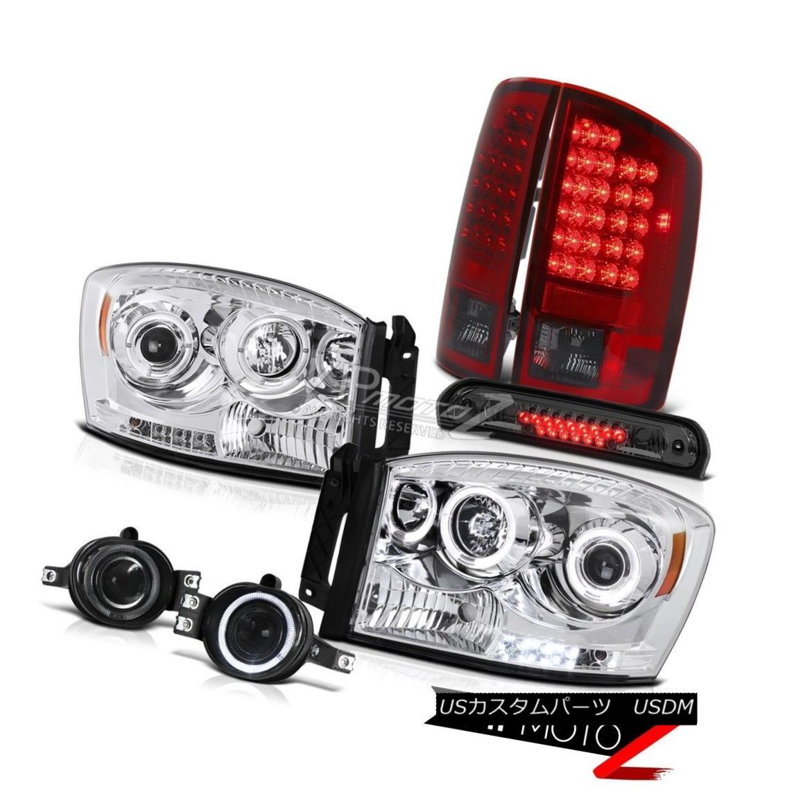 ヘッドライト 2007 2008 Ram ST LED Angel Eye Headlights Red Smoke Tail Lights Fog Roof Brake 2007年ラムST LEDエンジェルアイヘッドライトレッド煙テールライトフォグルーフブレーキ
