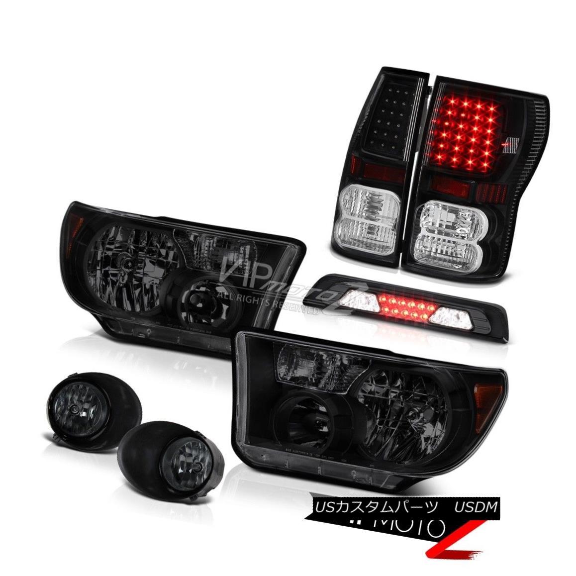 ヘッドライト 07-13 Toyota Tundra SR5 Headlights Fog Lamps High Stop Light Tail LED Assembly 07-13トヨタトンドラSR5ヘッドランプフォグランプハイストップライトテールLEDアセンブリ