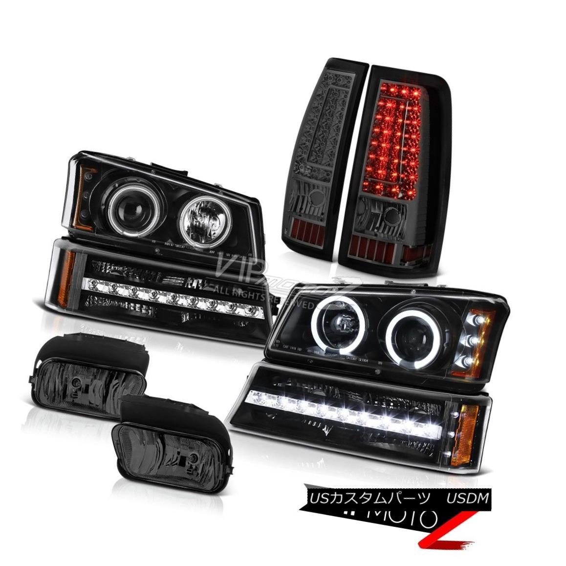 ヘッドライト 03 04 05 06 Silverado Foglamps Tail Lights Matte Black Bumper Light Headlights 03 04 05 06 Silverado Foglampsテールライトマットブラックバンパーライトヘッドライト