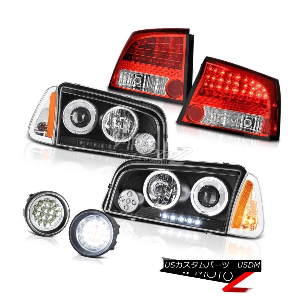 ヘッドライト 2009-2010 Dodge Charger RT Fog lamps wine red tail brake parking lamp Headlamps 2009-2010ダッジチャージャーRTフォグランプワインレッドテールブレーキパーキングランプヘッドランプ