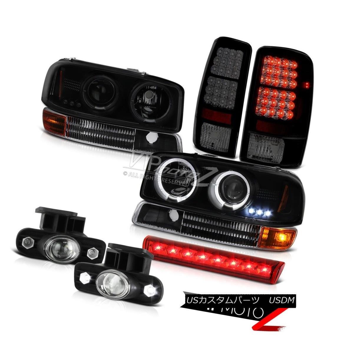 ヘッドライト 00-06 Yukon Halo Ring LED Headlights Signal Tail Lights FogLights 3rd Brake Red 00-06ユーコンハローリングLEDヘッドライト信号テールライトフォグライト第3ブレーキレッド