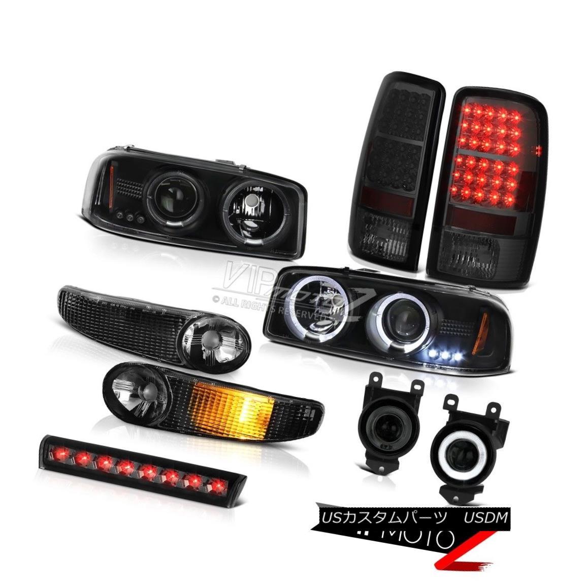 ヘッドライト Halo Headlights Signal Smoke LED Tail Lamps Fog Roof Brake 01-06 Yukon XL GMT801 Haloヘッドライト信号煙LEDテールランプ霧屋根ブレーキ01-06ユーコンXL GMT801