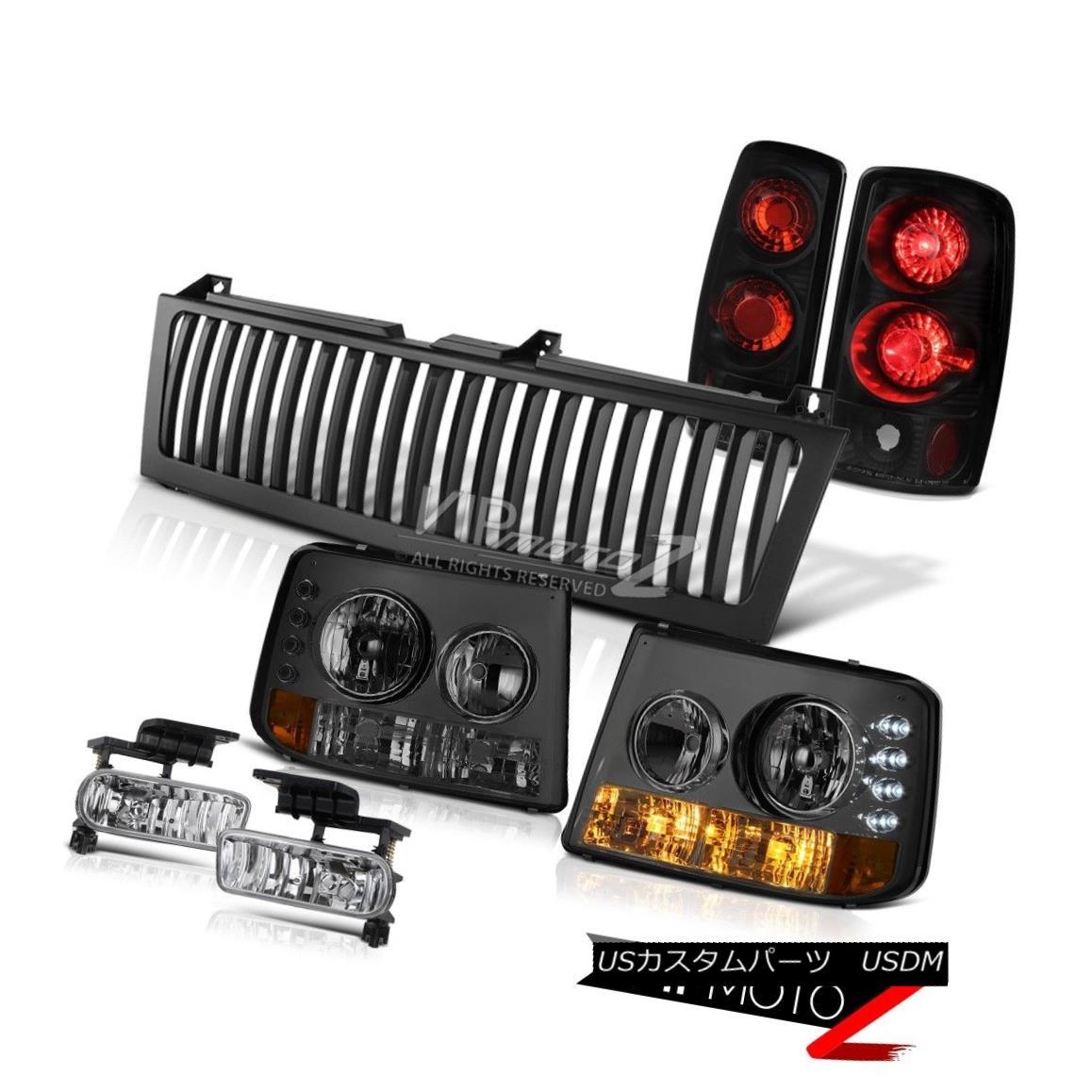 ヘッドライト Bumper+Headlamp Taillight Sterling Chrome Fog Grille 2000 01 02 03 Suburban 6.0L バンパー+ヘッドラム pテイルライトスターリングクロムフォググリル2000 01 02 03郊外6.0L