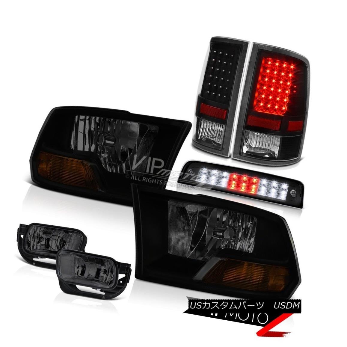 ヘッドライト 09-16 Ram 1500 Laramie Roof Cab Light Foglamps Rear Brake Lights Headlamps LED 09-16ラム1500ララミールーフキャブライトフォグランプリアブレーキライトヘッドランプLED