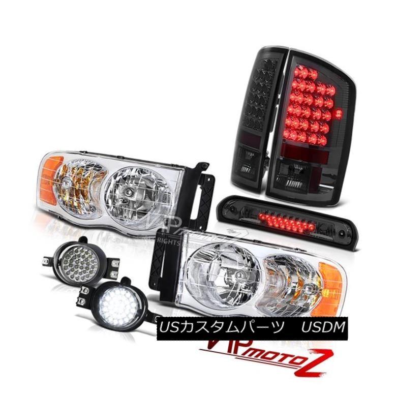 ヘッドライト 2002-2005 Ram Magnum V8 Chrome Headlamps Parking Taillights LED Driving Fog Tint 2002-2005ラムマグナムV8クロームヘッドランプパーキングテールライトLEDドライビングフォグティント
