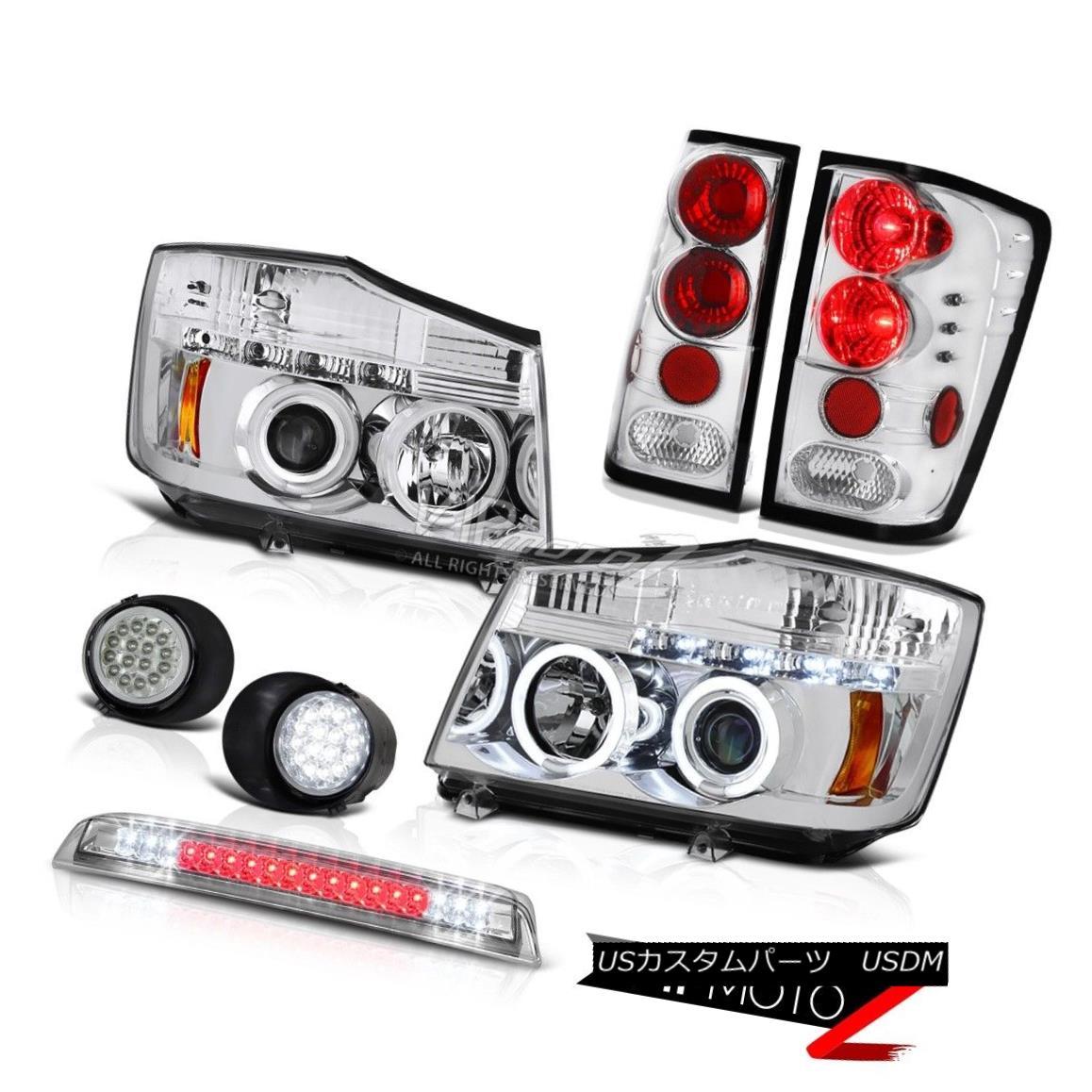 ヘッドライト Euro CCFL Headlight Tail Lamp Fog Roof Stop LED Clear For 2004-2015 Titan SL ユーロCCFLヘッドライトテールランプ霧屋根停止LEDクリア2004-2015タイタンSL