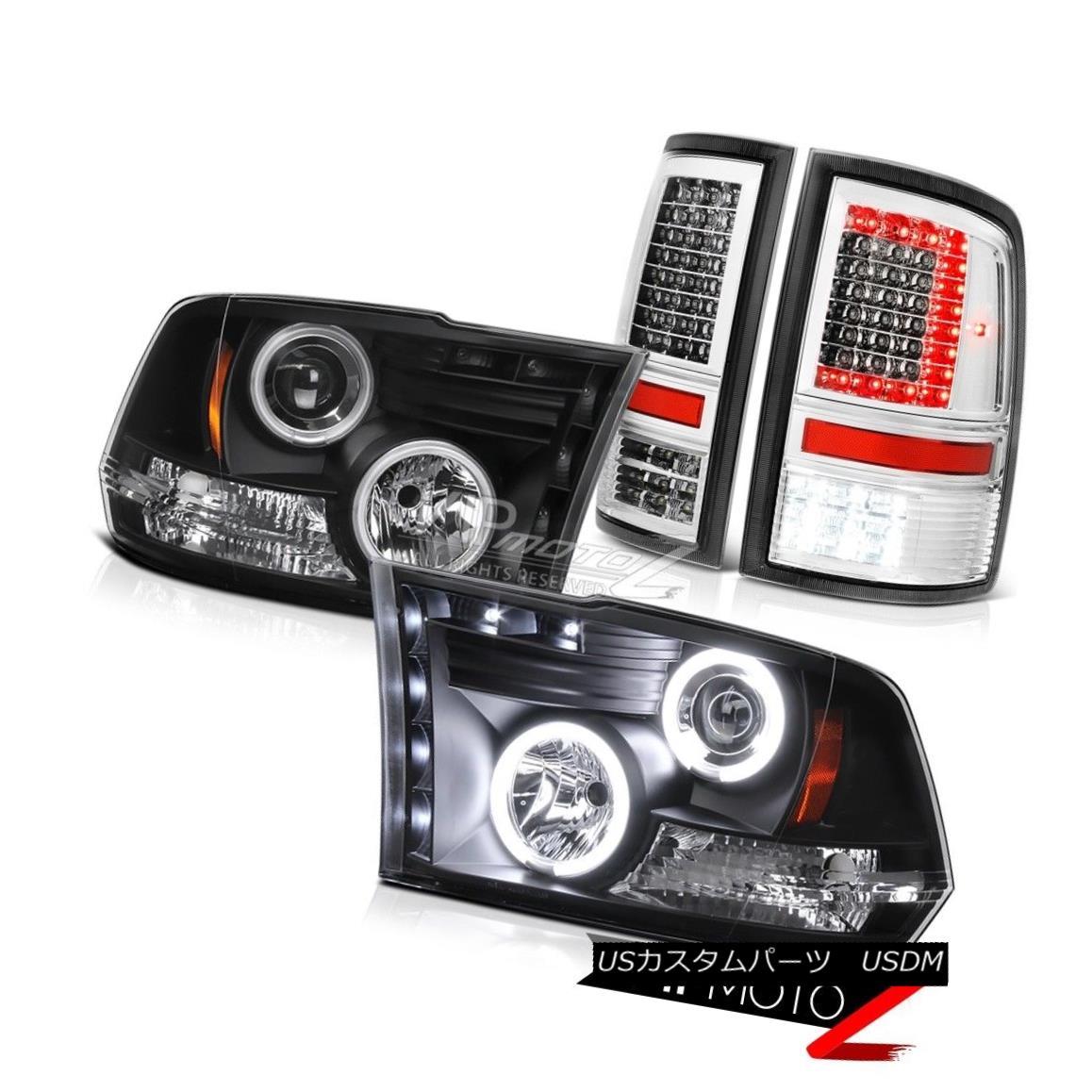 ヘッドライト 09-15 16 17 Dodge RAM 1500 3500 Tail Lights Matte Black Ccfl Headlamp Assembly 09-15 16 17ダッジRAM 1500 3500テールライトマットブラックCcflヘッドランプアセンブリ