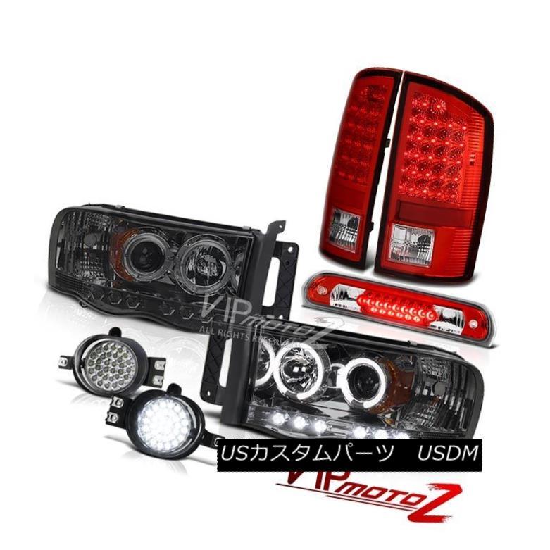 ヘッドライト 02-05 Ram V6 Headlights Projector Red Tail Lights L.E.D DRL System Roof Brake 02-05 Ram V6ヘッドライトプロジェクターレッドテールライトL.E.D DRLシステムルーフブレーキ
