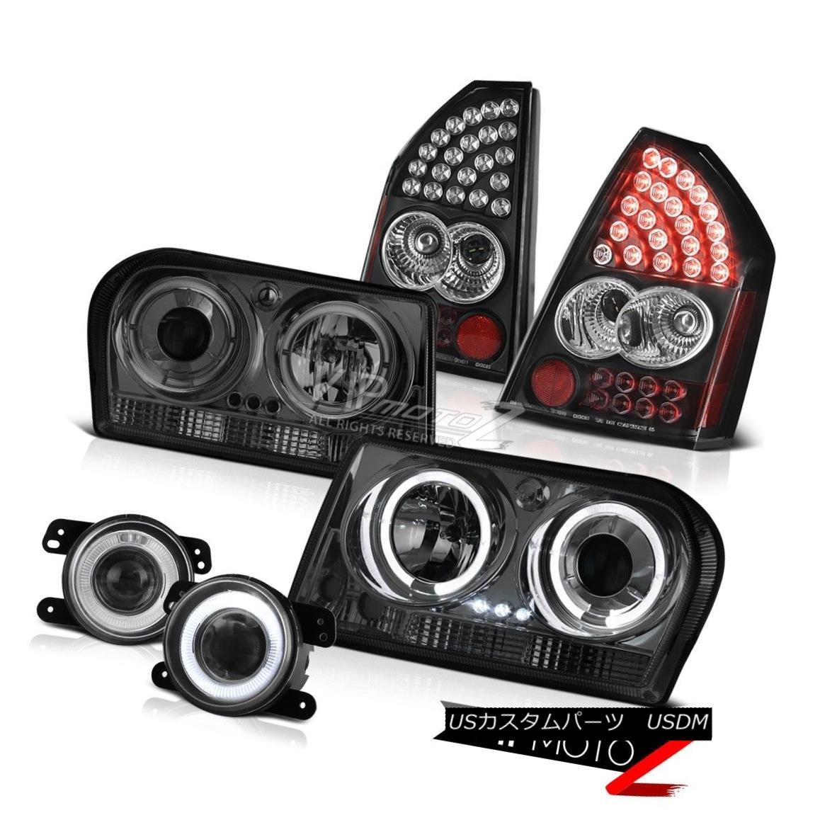 ヘッドライト 05-07 Chrysler 300 Touring Halo Headlights Black LED Tail Lights Driving Fog 05-07クライスラー300 HaloヘッドライトをツーリングするブラックLEDテールライトドライビングフォグ