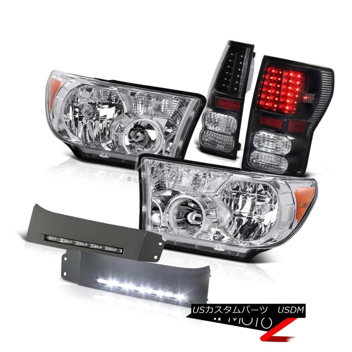 ヘッドライト 07 08 09 10 11 12 13 Tundra SR5 LIMITED PLATINUM Black LED Brake Headlights Lamp 07 08 09 10 11 12 13 Tundra SR5 LIMITED PLATINUMブラックLEDブレーキヘッドランプ