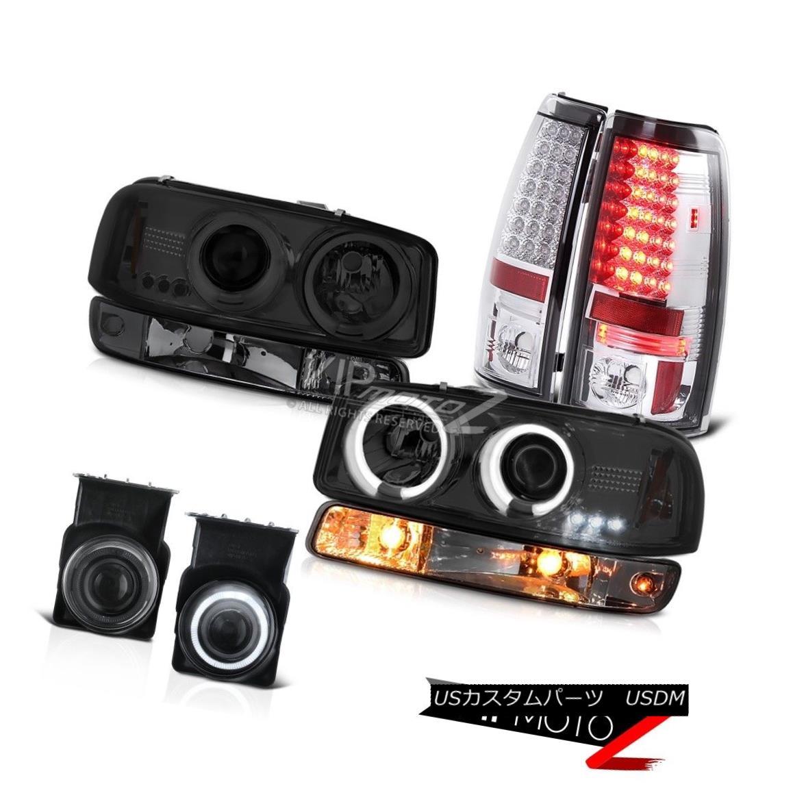 ヘッドライト 03 04 05 06 Sierra C3 Smoked foglights tail lights bumper lamp ccfl headlights 03 04 05 06シエラC3スモークフォグライトテールライトバンパーランプccflヘッドライト