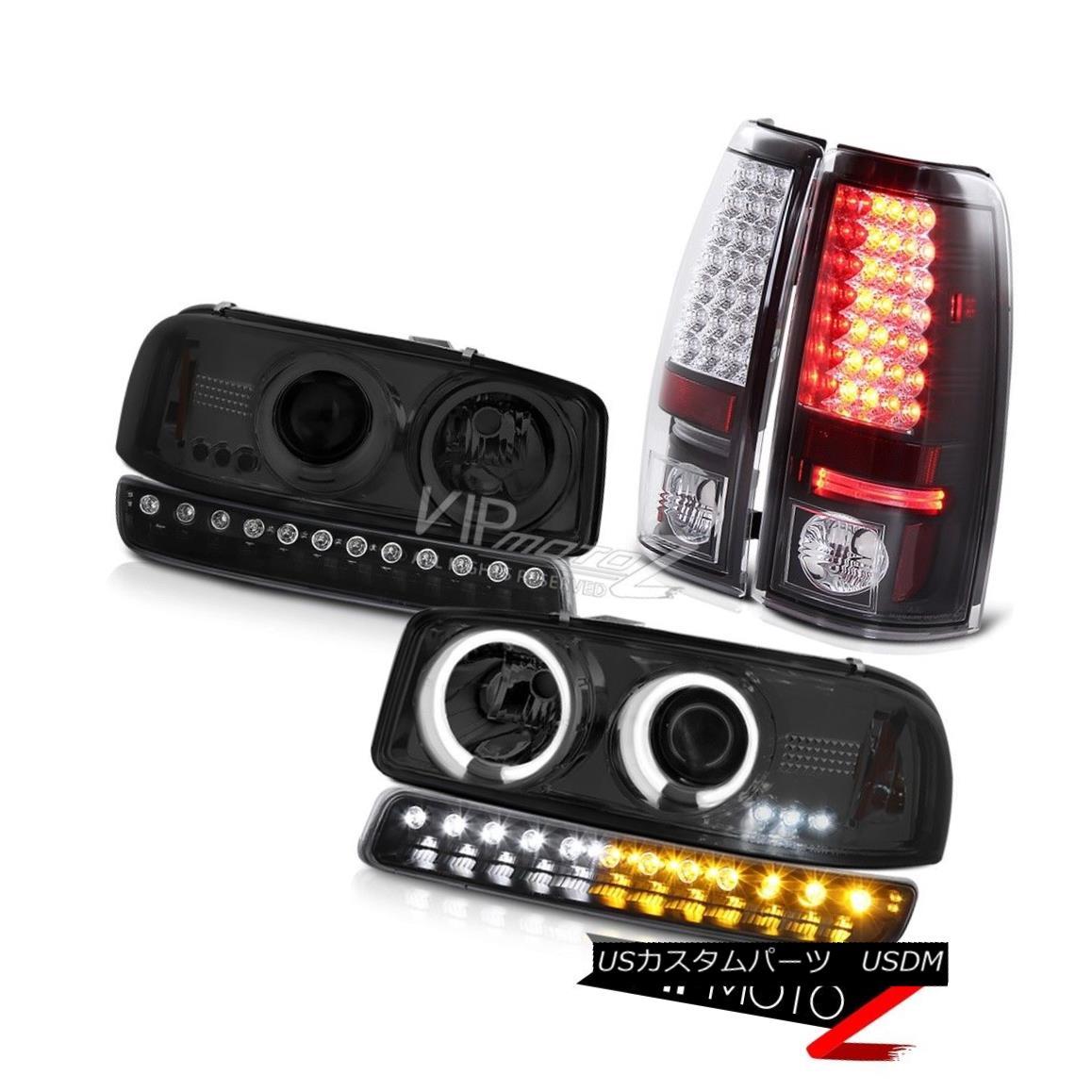 ヘッドライト 99-06 Sierra SLT Taillights parking light smoked ccfl headlights