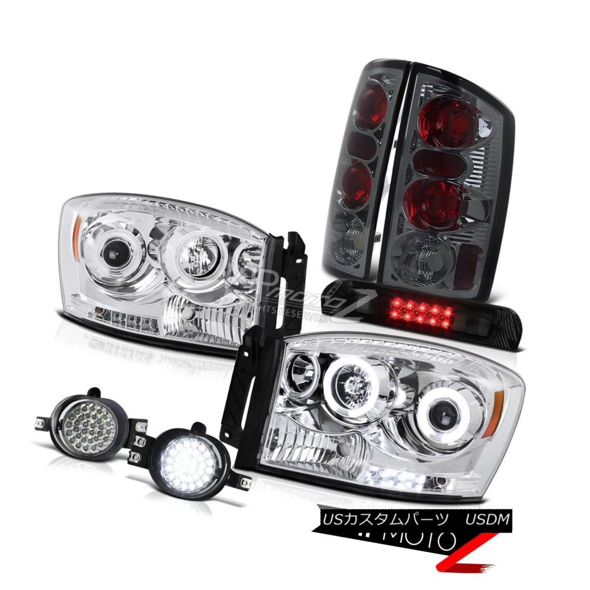 ヘッドライト Halo Angel Eye Headlight Signal Tail Light LED Fog Brake Cargo 2006 Dodge Ram V8 ハローエンジェルアイヘッドライト信号テールライトLEDフォグブレーキカーゴ2006 Dodge Ram V8
