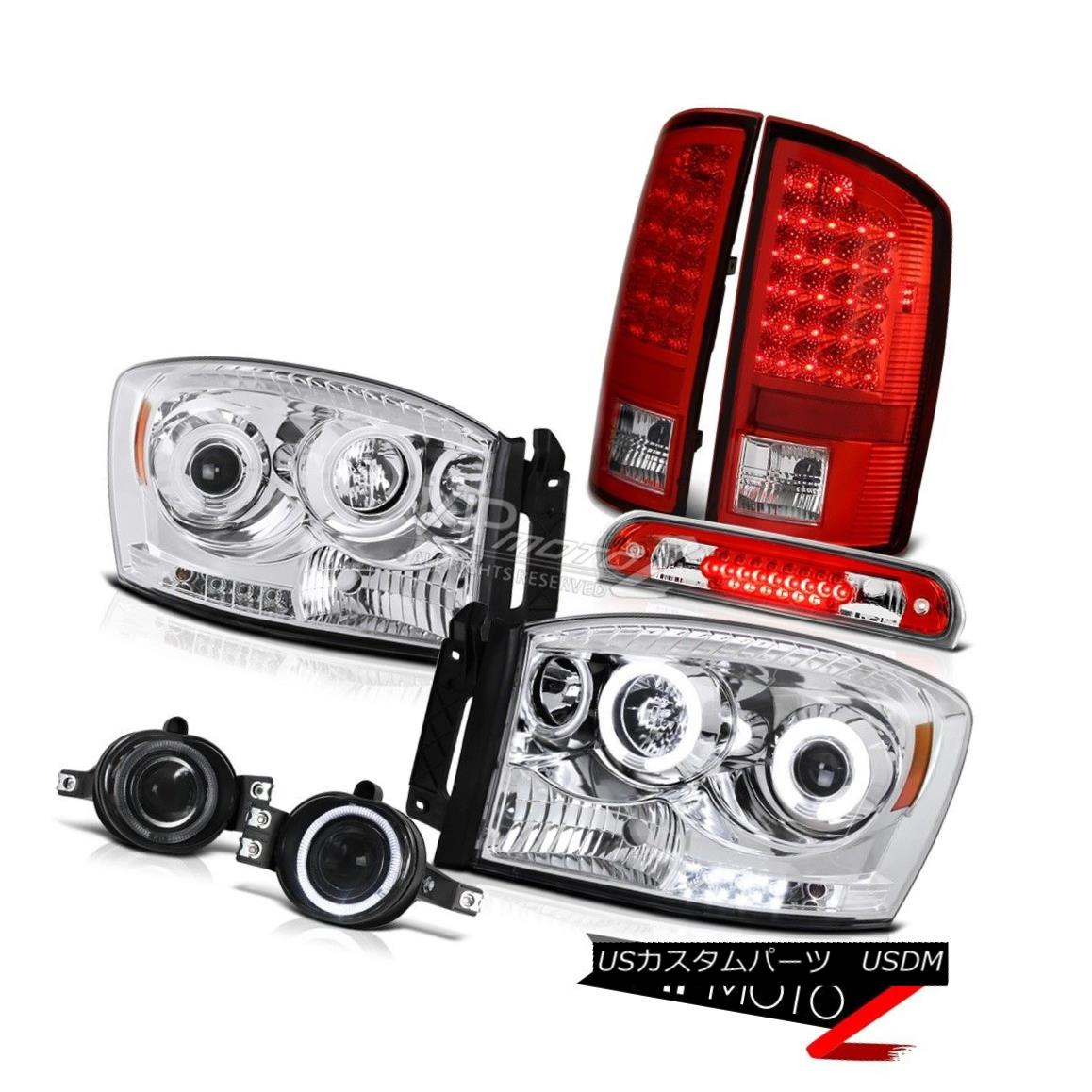 ヘッドライト Projector CCFL Halo LED Taillights Red Smoke Fog Roof Brake 2006 Dodge Ram WS プロジェクターCCFL Halo LED曇り赤い煙霧屋根ブレーキ2006 Dodge Ram WS