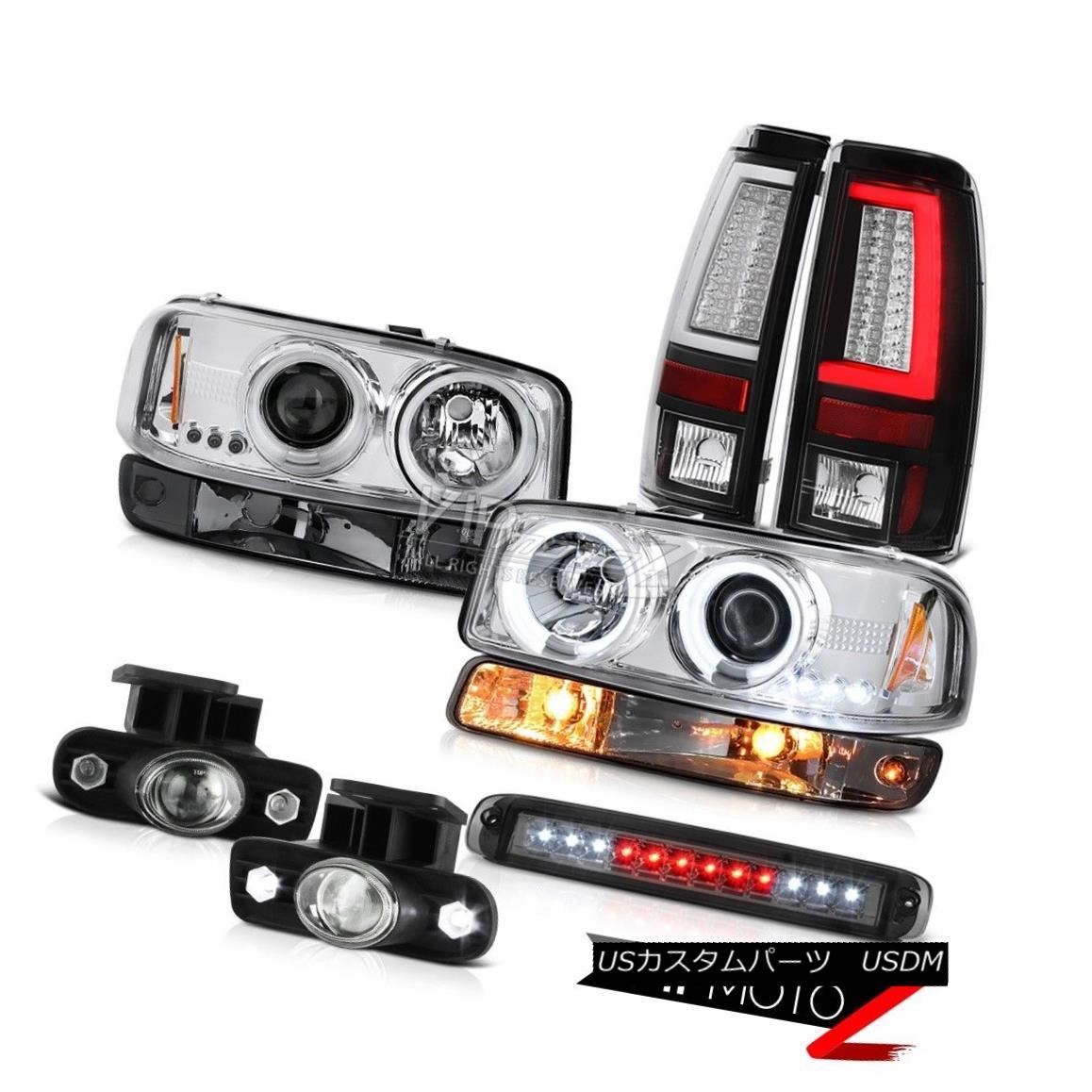 ヘッドライト 99-02 Sierra 3500HD Taillights Roof Cab Lamp Signal Foglamps CCFL Headlights LED 99-02 Sierra 3500HDテールランプルーフキャブ・ランプ信号フォグランプCCFLヘッドライトLED