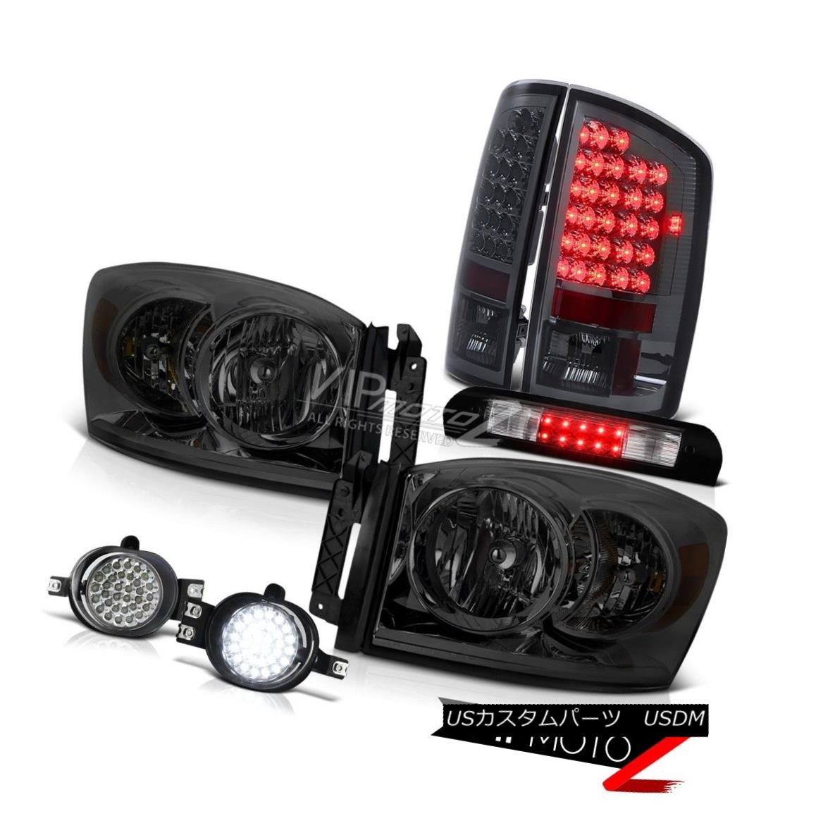 ヘッドライト Tinted Headlamps Brake Light LED Trim Fog Third Cargo 2006 Dodge Ram Magnum V8 着色されたヘッドランプブレーキライトLEDトリムフォグ第3貨物2006ドッジラムマグナムV8