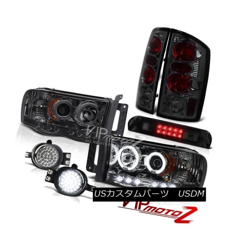 ヘッドライト Dual CCFL Headlight Smoke Tail Lights LED Bumper Fog Roof Stop 02 03 05 Ram Hemi デュアルCCFLヘッドライト煙テールライトLEDバンパーフォグルーフストップ02 03 05 Ram Hemi