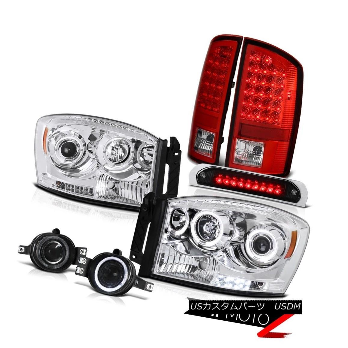 ヘッドライト Projector Headlights Halo Red Brake LED Tail Lights Foglights Stop 2006 Ram V8 プロジェクターヘッドライトHalo RedブレーキLEDテールライトFoglights Stop 2006 Ram V8