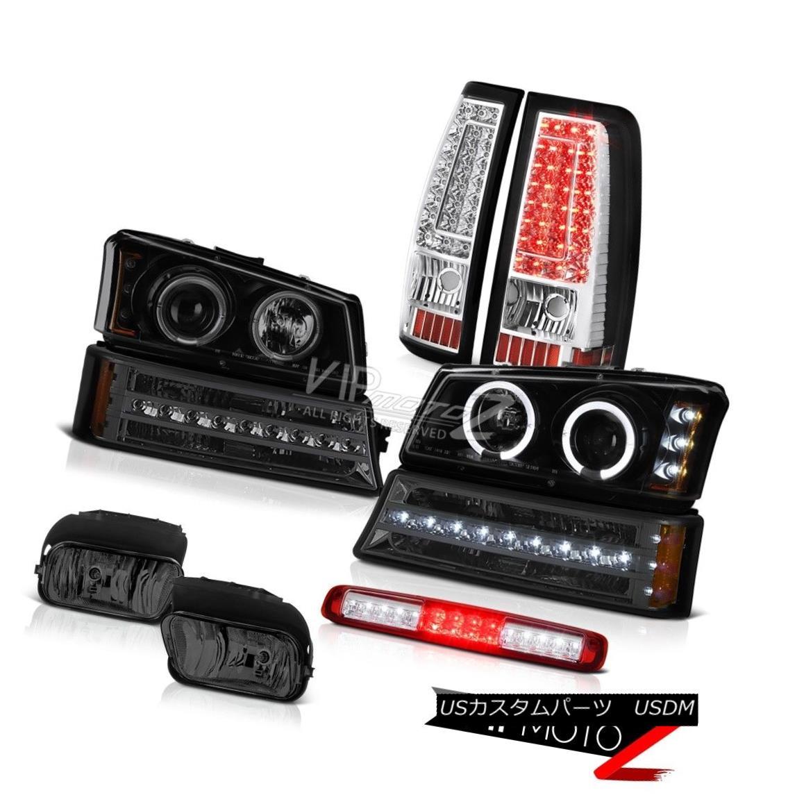 ヘッドライト 03-06 Silverado 2500Hd Red 3RD Brake Light Fog Lamps Tail Turn Signal Headlamps 03-06 Silverado 2500Hd赤3RDブレーキライトフォグランプテールターンシグナルヘッドランプ