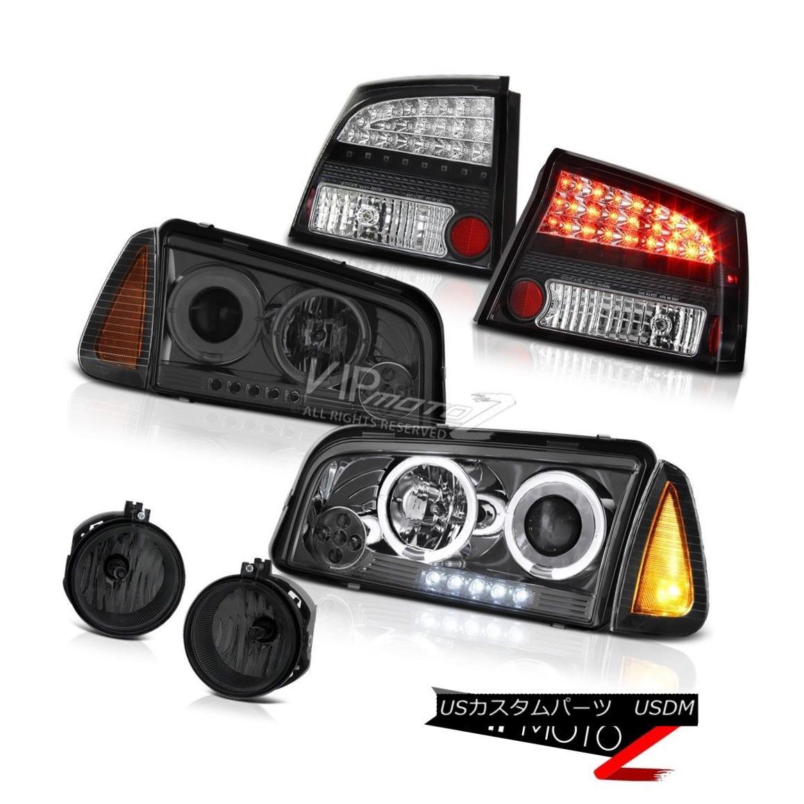 ヘッドライト 2009-2010 Dodge Charger 5.7L Smoked fog lights tail corner light Headlamps LED 2009-2010ダッジチャージャー5.7LスモークフォグライトテールコーナーライトヘッドランプLED