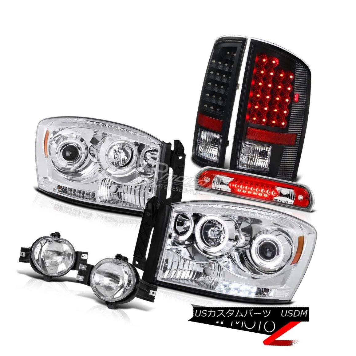 ヘッドライト 06 Dodge Ram SRT-10 LED DRL Headlamp Tail Lights Chrome Fog High Brake Cargo 06 Dodge Ram SRT-10 LED DRLヘッドライトテールライトクロムフォグハイブレーキキャロ