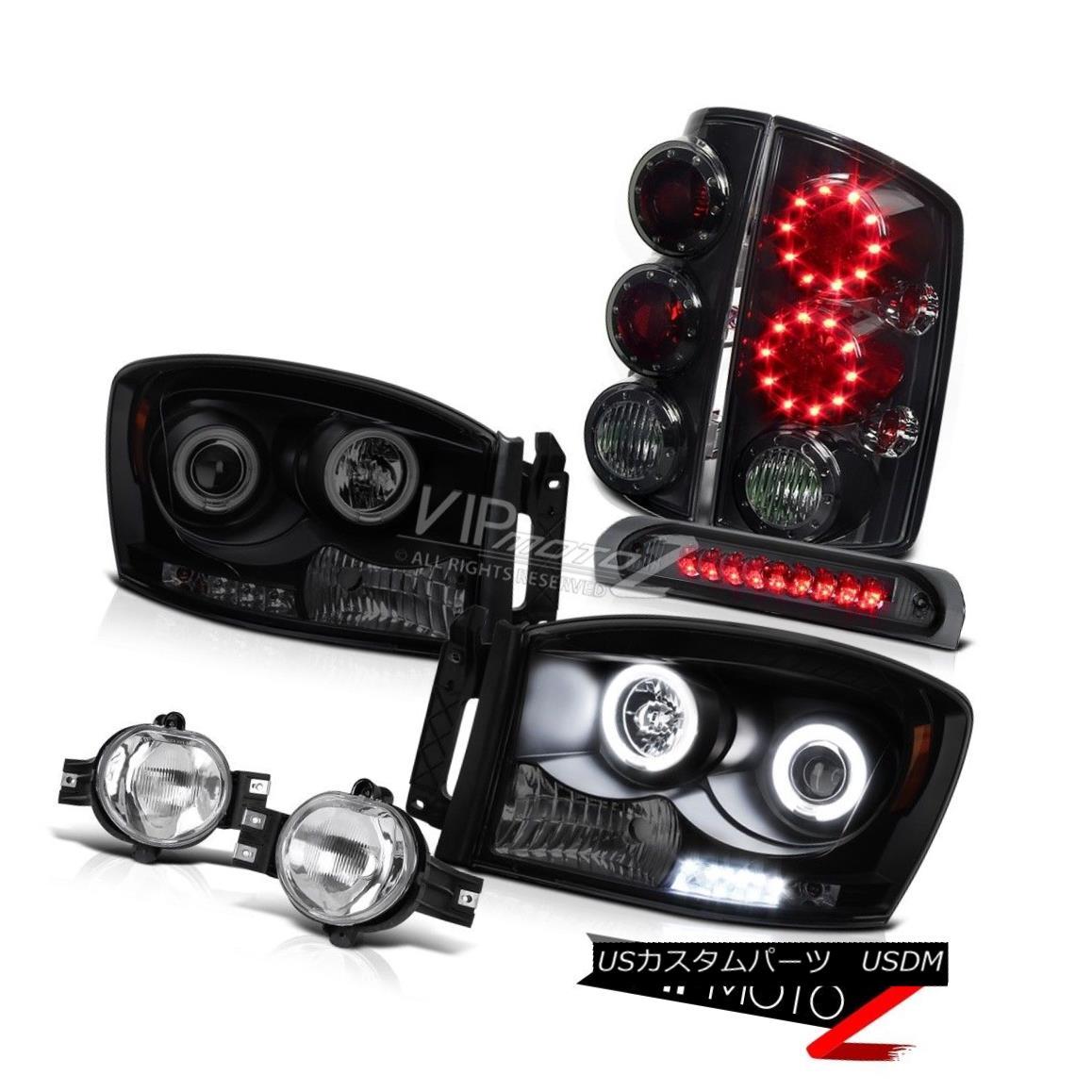 ヘッドライト 2006 Dodge Ram 5.9L CCFL Angel Eye Headlight Switch Foglight LED 3RD Brake Lamps 2006ダッジラム5.9L CCFLエンジェルアイヘッドライトスイッチFoglight LED 3RDブレーキランプ