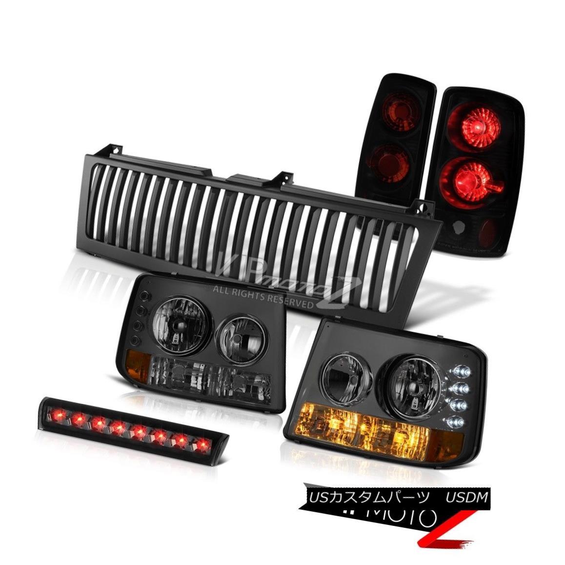 ヘッドライト 2000-2006 Tahoe LT Smoke Bumper+Headlight Tail Lamps Roof Brake Cargo LED Grille 2000-2006タホLTスモークバンパー+ヘッドリッグ htテールランプ屋根ブレーキカーゴLEDグリル